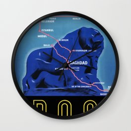 Iraqi State Railways Travel Poster Wall Clock