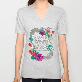 Girl With A Book Unisex V-Neck