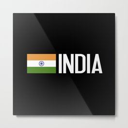 India: Indian Flag Metal Print