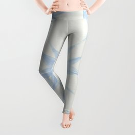Shibori Starburst Sky Blue on Lunar Gray Leggings