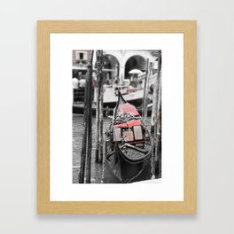 Gondola on the Canals Framed Art Print