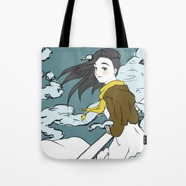 Girl in the Clouds Tote Bag