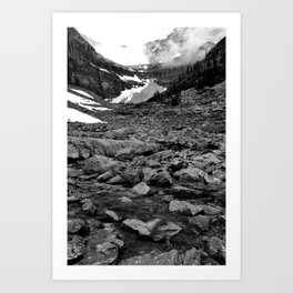 Nameless Rocks Beneath Space Art Print