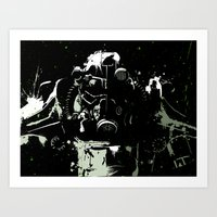 fallout Art Prints featuring Fallout by Adam Newacheck