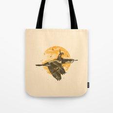 Ride The Sky Tote Bag