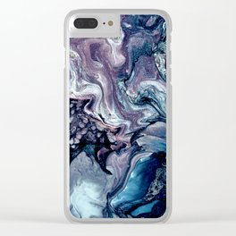 Obsession in blue Clear iPhone Case