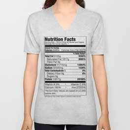 Human Nutrition Facts Unisex V-Neck