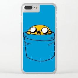 Jake In Poket Clear iPhone Case