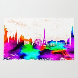 The International Skyline Watercolor Rug