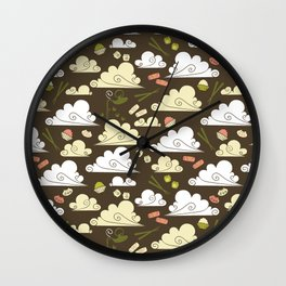 Dim Sum At Dawn Wall Clock