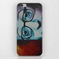 woody allen iPhone & iPod Skins featuring Woody Allen by Boaz