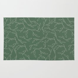Green Climbing Leaves Rug