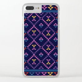 Bohemian Kilim Ethnic Pattern 1 Clear iPhone Case