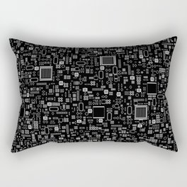 All Tech Line INVERTED / Highly detailed computer circuit board pattern Rectangular Pillow