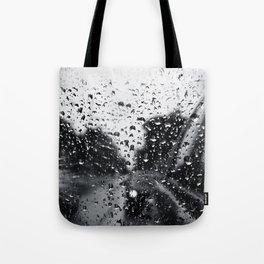 'Side View Rain' Tote Bag