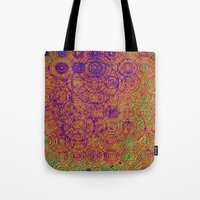 trippy Tote Bags featuring Trippy by Lyle Hatch