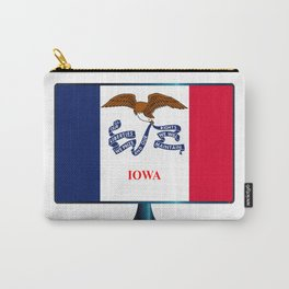 Iowa Flag TV Carry-All Pouch