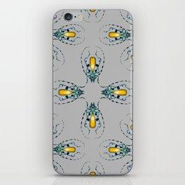 Yellow Agate Beetles Pattern iPhone Skin