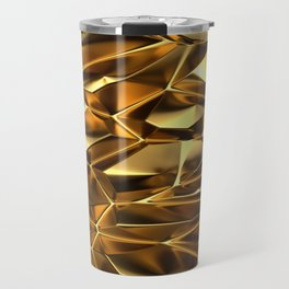 Abstract Gold Surface triangle ceiling wide banner Travel Mug