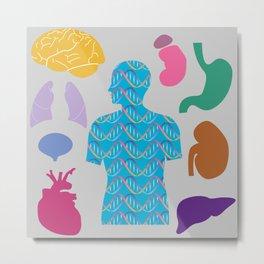 Human Body_A Metal Print