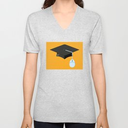 More Clicks, Fewer Bricks: The Lecture Hall Is Obsolete Unisex V-Neck