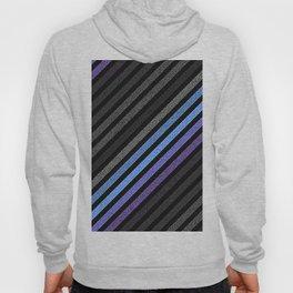 stripES Slate Gray Blue Periwinkle Pixels Hoody