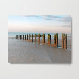 Beach groyne Metal Print