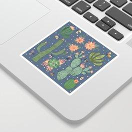Succulents in Blue Sticker