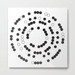 Circle Closure Metal Print