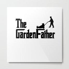 The Garden Papa Gardening Papa Flowers Metal Print