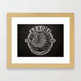 Apache Sereng (Malaysia Biker Gang Logo) Framed Art Print