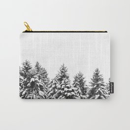 White Snow Forest No1 Carry-All Pouch