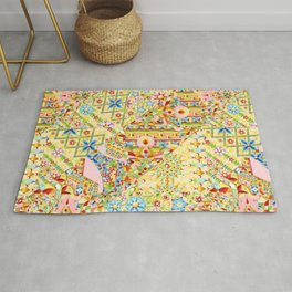 Sunshine Crazy Quilt (printed) Rug