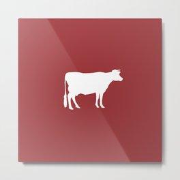 Cow: Barn Red Metal Print