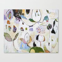 """flora bowley Canvas Prints featuring """"Letting Go"""" Original Painting by Flora Bowley by Flora Bowley"""