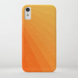 Shades of Sun - Line Gradient Pattern between Light Orange and Pale Orange iPhone Case