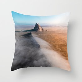 Shiprock volcanic formation in New Mexcio Throw Pillow