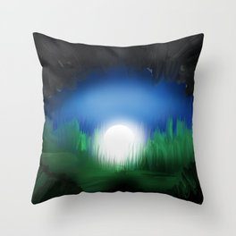 A view from inside the Cave Throw Pillow