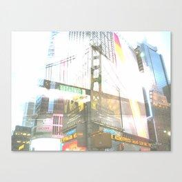SF to NY Canvas Print