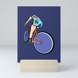 Fixie Cyclist Mini Art Print
