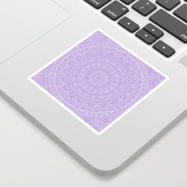 The Most Detailed Intricate Mandala (Violet Purple) Maze Zentangle Hand Drawn Popular Trending Sticker