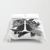 gondor Duvet Covers featuring White Tree Of Gondor by Icarusdie