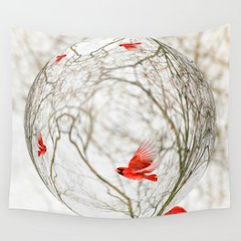 Cardinal Refraction Wall Tapestry