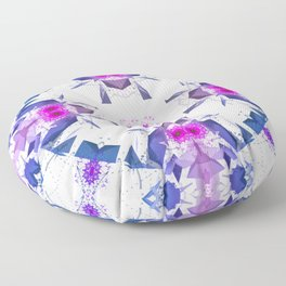 Geometric Alignment Floor Pillow
