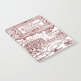 Map of Bohemia (red) Notebook
