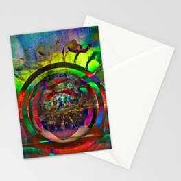 Cosmic Spin Stationery Cards