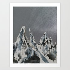 Mountains - Winter Sky Art Print