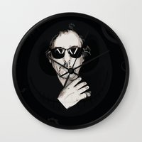 tim burton Wall Clocks featuring TIM BURTON by Rocky Rock