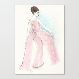'Ava' Watercolor Fashion Illustration Canvas Print