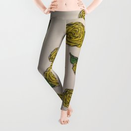 Falling Roses (yellow) Leggings